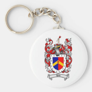 HALE FAMILY CREST -  HALE COAT OF ARMS BASIC ROUND BUTTON KEY RING