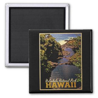 Haleakala National Park Hawaii Square Magnet
