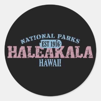 Haleakala National Park Round Stickers
