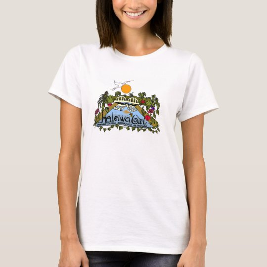Haleiwa Girl Hawaiian Custom Surfboards T-Shirt