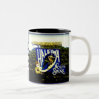 Haleiwa North Shore Hawaii mug Two-Tone Mug