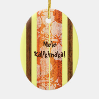 Haleiwa Vintage Faux Wood Surfboard Ornament