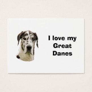 Halequin Great Dane pet photo Business Card
