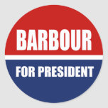 HALEY BARBOUR 2012 ROUND STICKERS