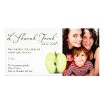Half a Green Apple Rosh Hashanah Personalised Photo Card