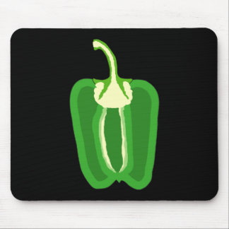 Half a Green Bell Pepper. Mouse Pad