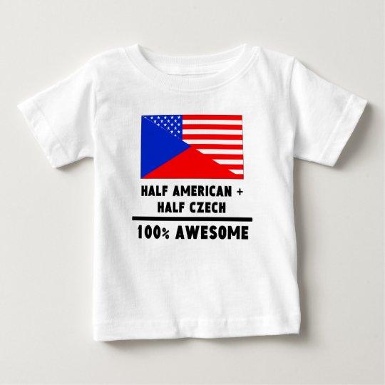 Half American Plus Half Czech Baby T-Shirt