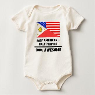 Half American Plus Half Filipino Rompers