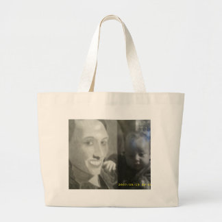 half and half black and white picture bag
