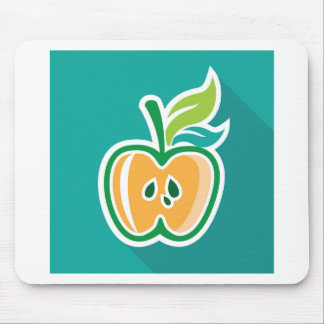 Half apple Core Isolated Design Mouse Pad