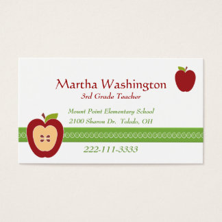 Half Apple Teacher's Business Card