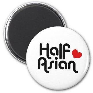 Half Asian 6 Cm Round Magnet