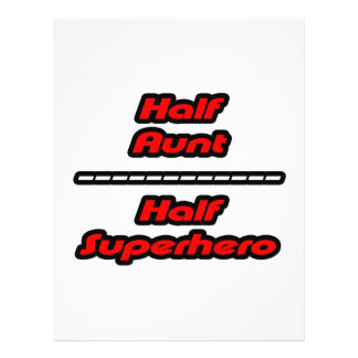 Half Aunt Half Superhero Flyer Design