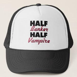 Half Banker Half Vampire Trucker Hat