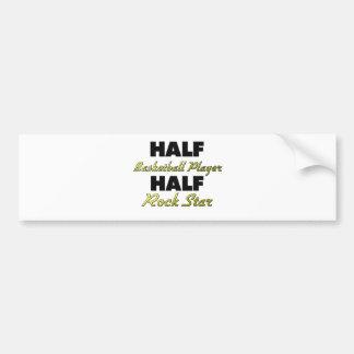 Half Basketball Player Half Rock Star Car Bumper Sticker