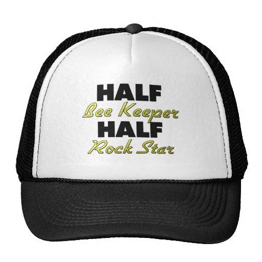 Half Bee Keeper Half Rock Star Trucker Hat