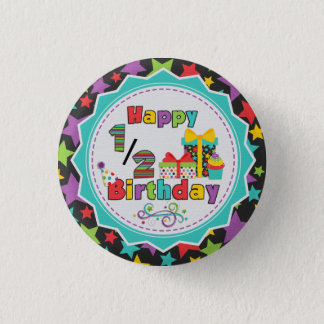 Half Birthday Button