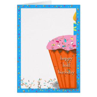 Half Birthday cupcake Greeting Card