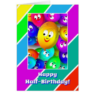 Happy Half Birthday Cards Invitations Zazzlecouk