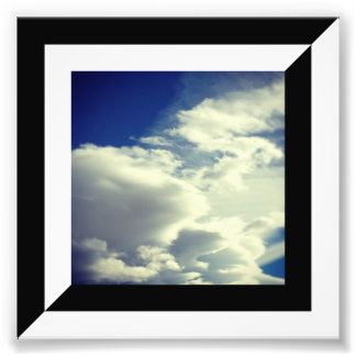 Half Black and White Diagonal Border Photographic Print
