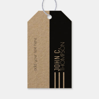 half black monogrammed with custom text modern gift tags