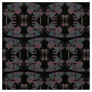 Half Brick Butterfly Mandala Pattern on Black Fabric