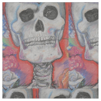 Half Brick Skull Pattern Fabric
