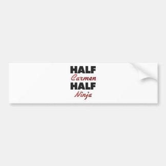 Half Carmen Half Ninja Bumper Sticker