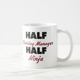 Half Catering Manager Half Ninja Basic White Mug