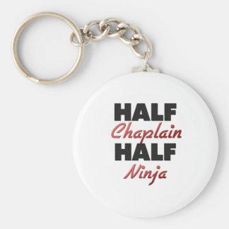 Half Chaplain Half Ninja Basic Round Button Key Ring