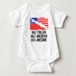 Half Chilean Half American Awesome Baby Bodysuit