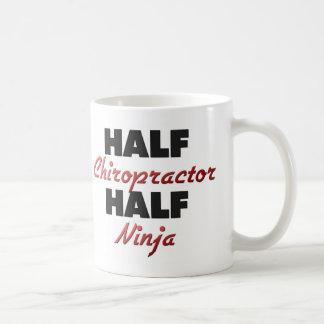 Half Chiropractor Half Ninja Coffee Mug