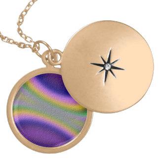 half circle line pattern pendant