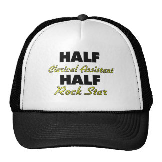 Half Clerical Assistant Half Rock Star Cap
