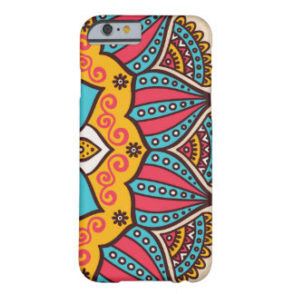 Half colored mandala barely there iPhone 6 case
