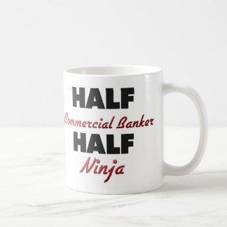Half Commercial Banker Half Ninja Basic White Mug