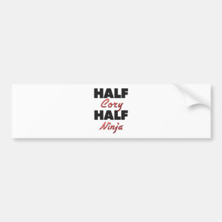 Half Cory Half Ninja Bumper Stickers