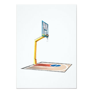 Half Court 13 Cm X 18 Cm Invitation Card