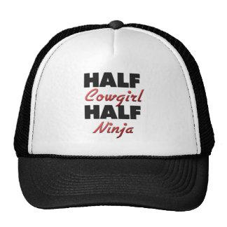Half Cowgirl Half Ninja Cap