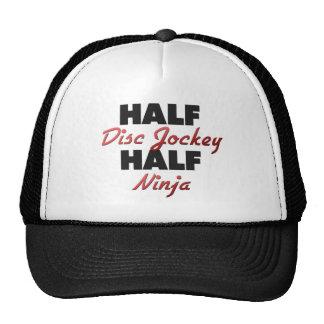 Half Disc Jockey Half Ninja Trucker Hats