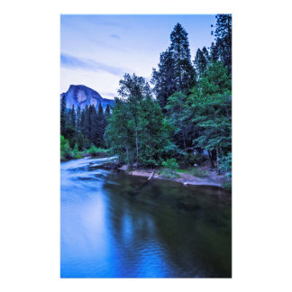 Half Dome from The Sentinel Bridge at Twilight Stationery