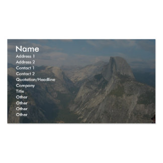 Half Dome In Yosemite National Park (As Viewed Fro Business Card Template