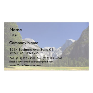 Half Dome In Yosemite National Park Business Card Template