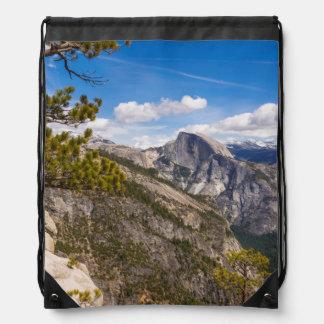 Half Dome landscape, California Drawstring Bag