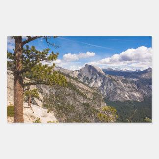 Half Dome landscape, California Rectangular Sticker
