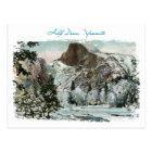 Half Dome Painted Vintage Postcard