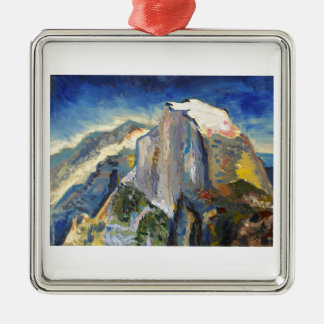 Half Dome Painting Silver-Colored Square Decoration