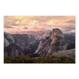 Half Dome Sunset Photo Print