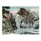 Half Dome, Yosemite in Winter Vintage Postcard