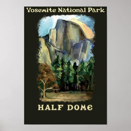 Half Dome, Yosemite National Park vintage-style Poster